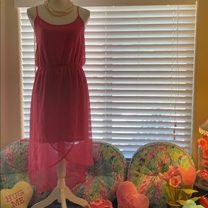 *FREE w/$15 Coral pink dress with faux wrap look
